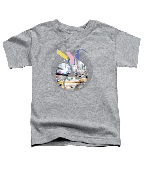 Trendy Design New York City Geometric Mix No 1 Toddler T-Shirt by Melanie Viola