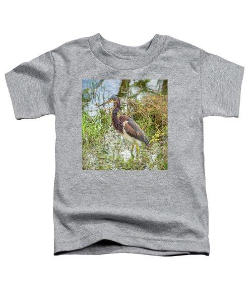Tri-colored Heron Toddler T-Shirt