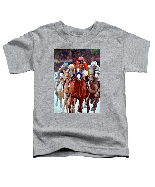 Triple Crown Winner Justify Toddler T-Shirt