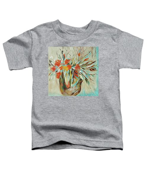 Toddler T-Shirt featuring the painting Tropical Arrangement by Joanne Smoley