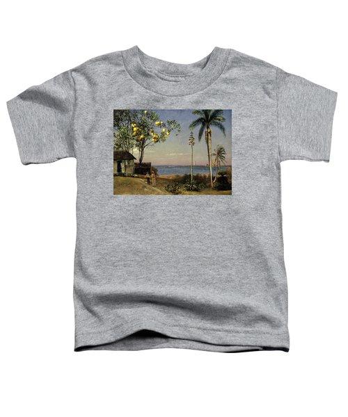 Tropical Scene Toddler T-Shirt by Albert Bierstadt