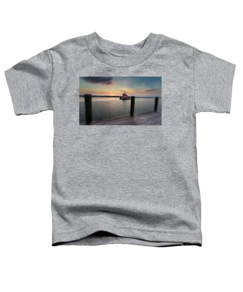 Tug Boat Sunset Toddler T-Shirt