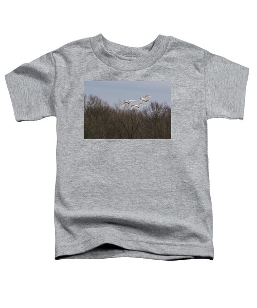 Toddler T-Shirt featuring the photograph Tundra Swan Trio by Donald Brown