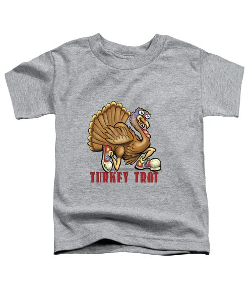 Turkey Trot Toddler T-Shirt by Kevin Middleton