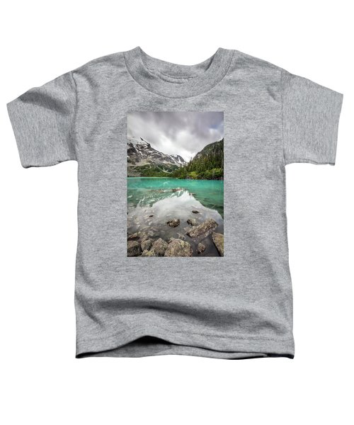 Turquoise Lake In The Mountains Toddler T-Shirt