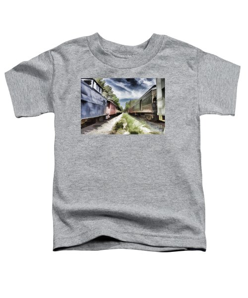 Twixt The Trains Toddler T-Shirt