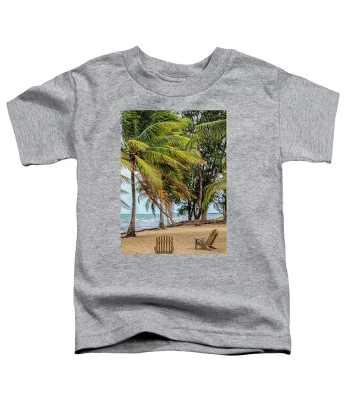 Two Chairs In Belize Toddler T-Shirt