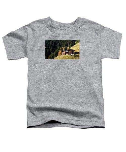 Two Chalets On A Mountainside Toddler T-Shirt