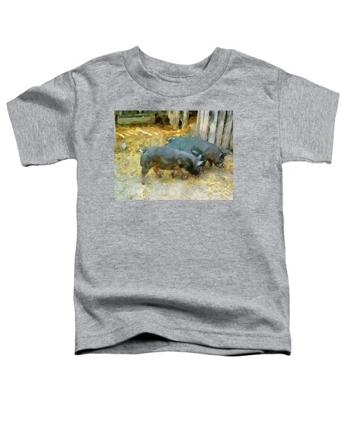 Two Little Pigs Toddler T-Shirt