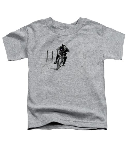 Two Wheels Move The Soul Toddler T-Shirt by Mark Rogan