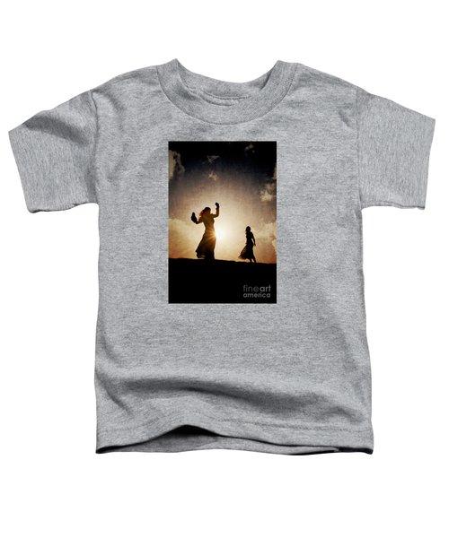 Two Women Dancing At Sunset Toddler T-Shirt