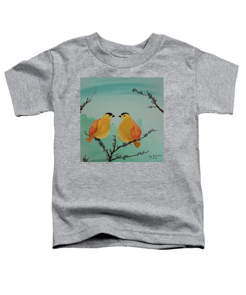 Two Yellow Chickadees Toddler T-Shirt