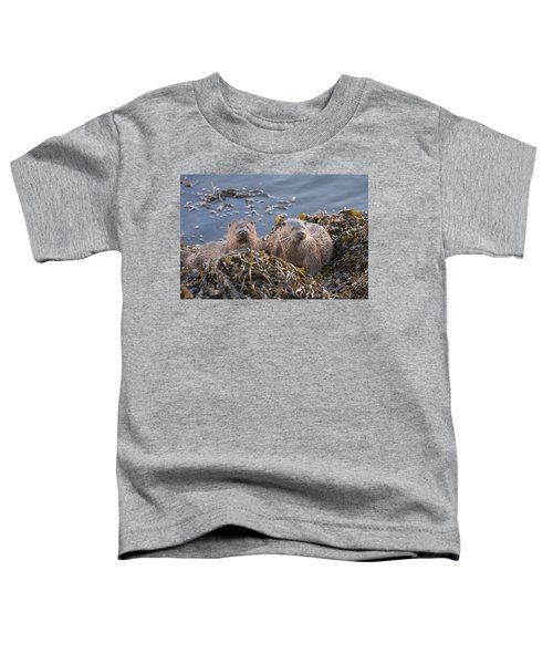 Two Young European Otters Toddler T-Shirt
