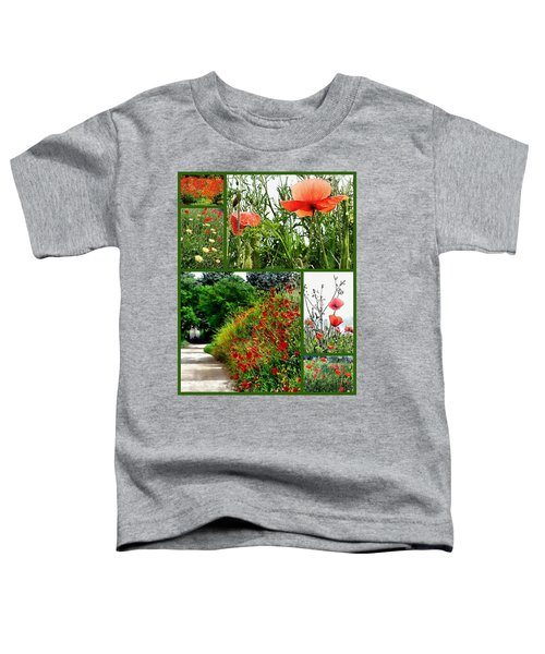 Umbrian Red Poppy Collage Toddler T-Shirt