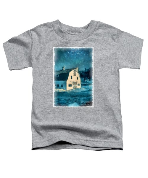Under The Vermont Moonlight Watercolor Toddler T-Shirt