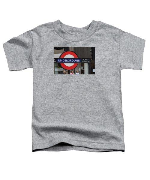 Underground Sign London Toddler T-Shirt