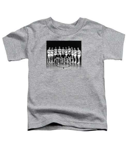 University Of Michigan Basketball Team 1960-61 Toddler T-Shirt by Mountain Dreams