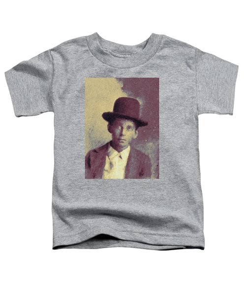Unknown Boy In A Bowler Hat Toddler T-Shirt