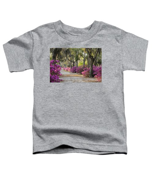 Unpaved Road With Azaleas And Oaks Toddler T-Shirt