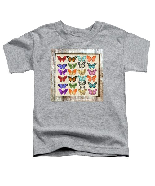 Colourful Butterflies Collage Toddler T-Shirt