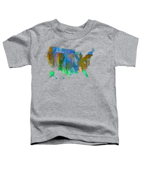 Usa - Colorful Map Toddler T-Shirt