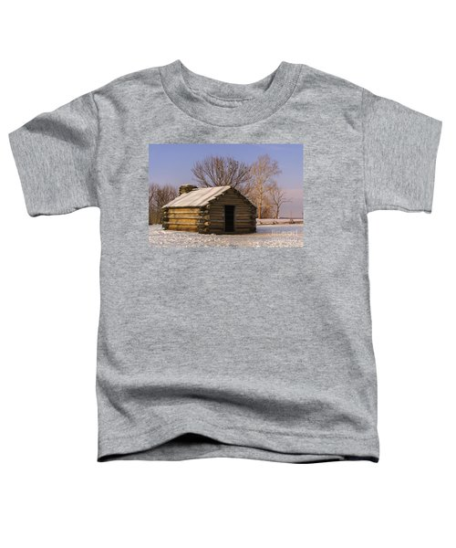 Valley Forge Cabin At Sunset Toddler T-Shirt