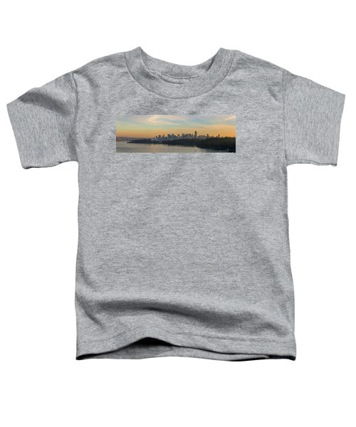 Vancouver Bc Skyline Along Stanley Park At Sunset Toddler T-Shirt