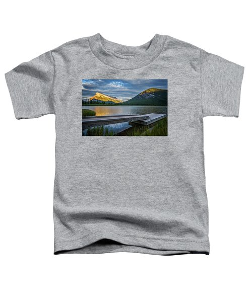 Vermillion Lakes And Mt Rundle Sunset Toddler T-Shirt