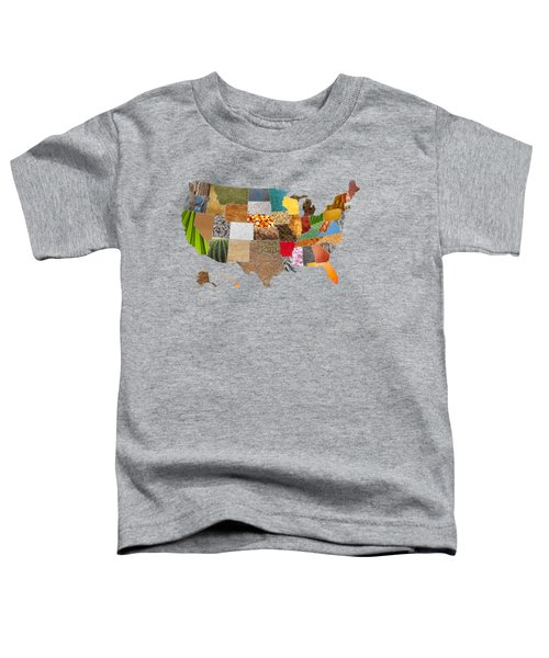 Vibrant Textures Of The United States Toddler T-Shirt by Design Turnpike