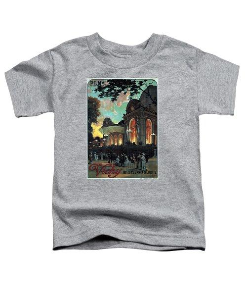 Vichy, France - Billets A Prix Reduits - Retro Travel Poster - Vintage Poster Toddler T-Shirt