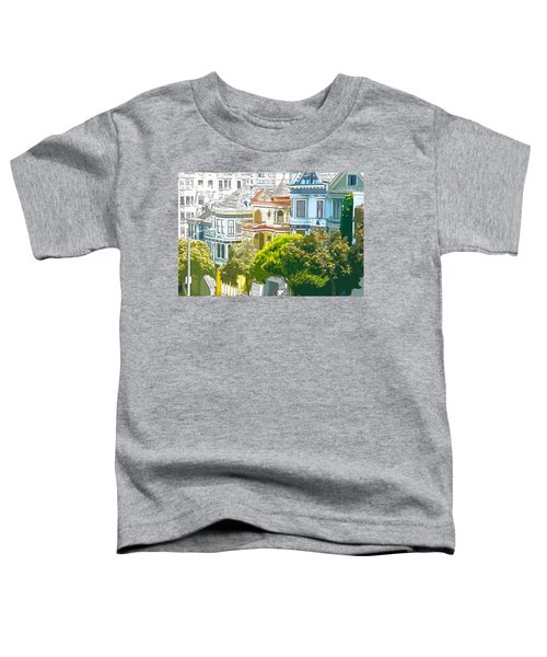 Victorian Painted Ladies Houses In San Francisco California Toddler T-Shirt