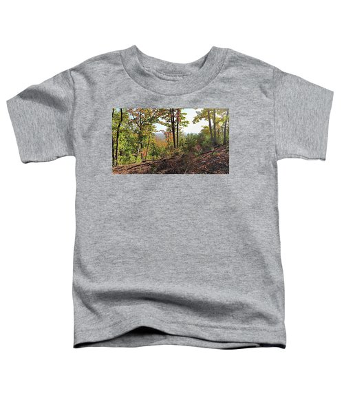 View From The Top Of Brown's Mountain Trail, Kings Mountain Stat Toddler T-Shirt