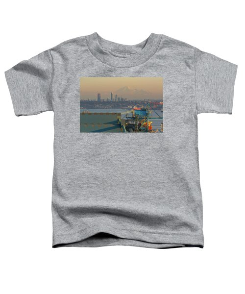 View Of Mount Baker And Vancouver Bc At Sunset Toddler T-Shirt