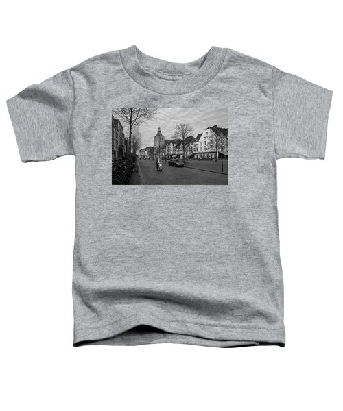 View To The Bosch Street In Maastricht Toddler T-Shirt by Nop Briex