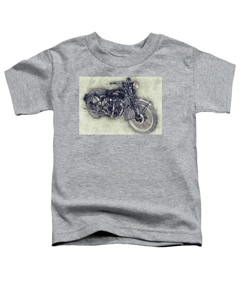 Vincent Black Shadow 1 - Standard Motorcycle - 1948 - Motorcycle Poster - Automotive Art Toddler T-Shirt