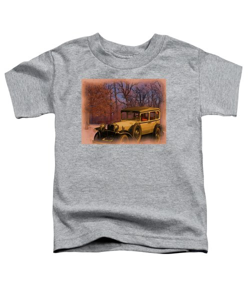 Vintage Auto In Winter Toddler T-Shirt