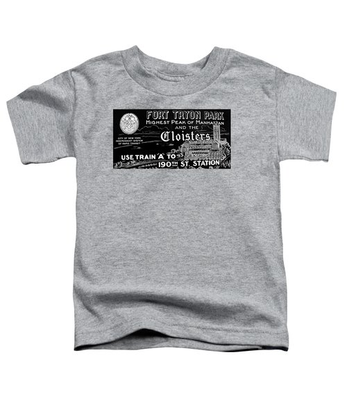 Vintage Cloisters And Fort Tryon Park Poster Toddler T-Shirt by Cole Thompson