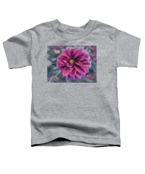 Toddler T-Shirt featuring the photograph Vintage Dahlia by Andrea Platt