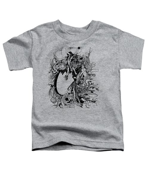 Vintage Fairies Magic Illustration Antique Ink Artwork Dictionary Book Page Art  Toddler T-Shirt
