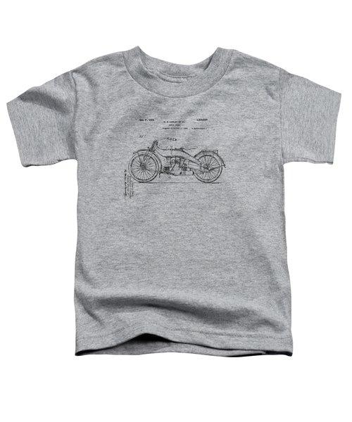 Vintage Harley-davidson Motorcycle 1924 Patent Artwork Toddler T-Shirt