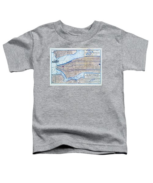 Vintage New York Map Toddler T-Shirt