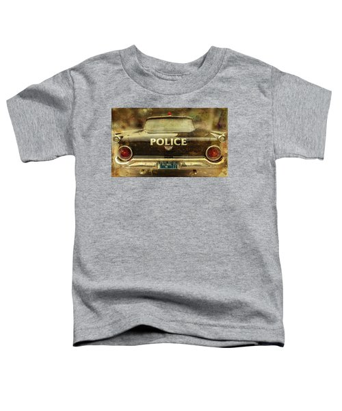 Vintage Police Car - Baltimore, Maryland Toddler T-Shirt