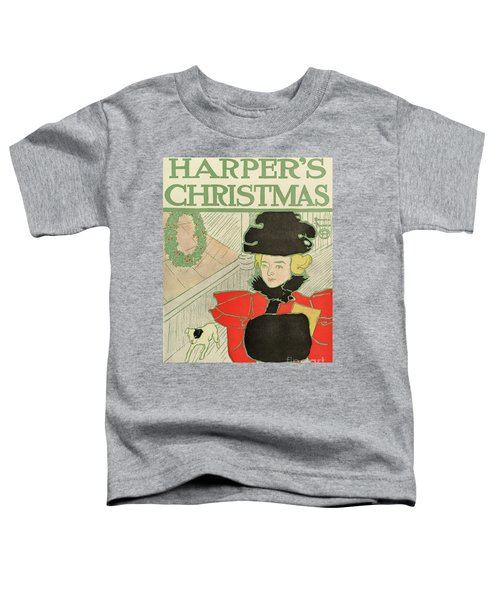 Vintage Poster Advertising Harper's New Monthly Magazine, Christmas 1894 Toddler T-Shirt