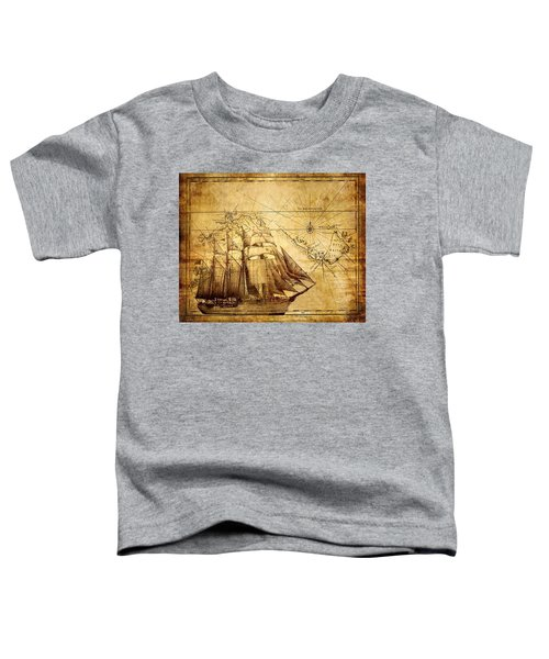 Vintage Ship Map Toddler T-Shirt