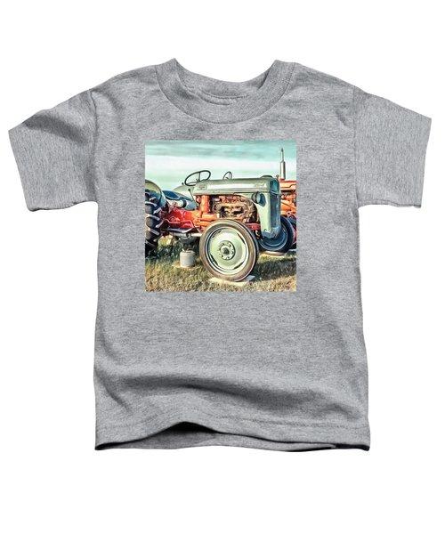 Vintage Tractors Pei Square Toddler T-Shirt