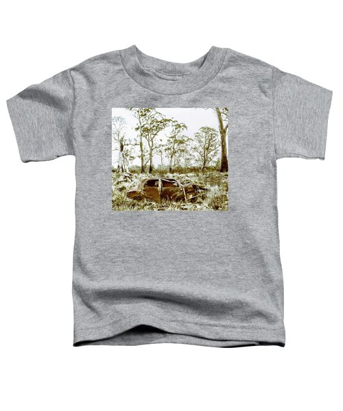 Vintage Winter Car Wreck Toddler T-Shirt