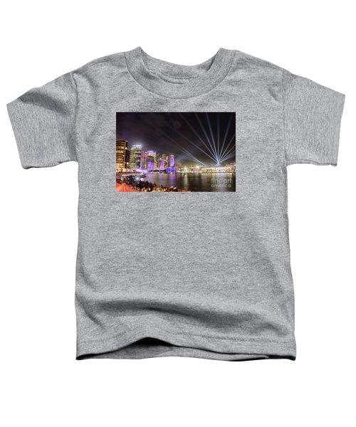 Vivid Sydney Skyline By Kaye Menner Toddler T-Shirt