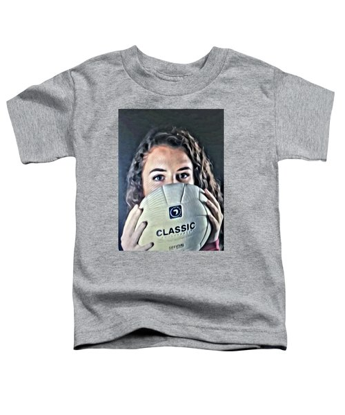 Volleyball Beauty Girl Toddler T-Shirt