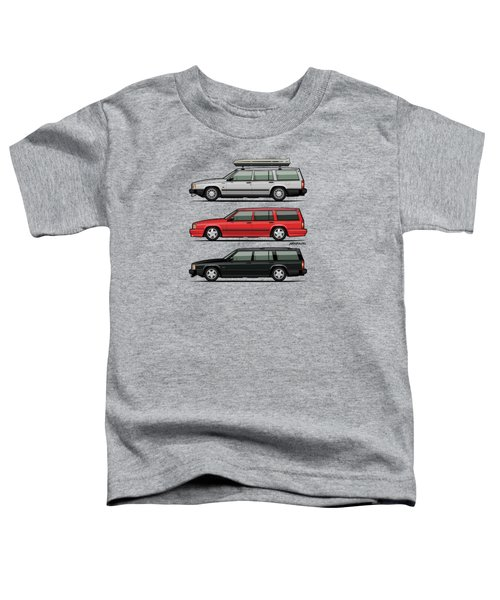 Volvo 740 745 Turbo Wagon Trio Toddler T-Shirt