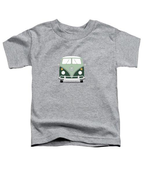 Vw Bus Green Toddler T-Shirt by Mark Rogan